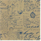 Inscribe 36 Electric Blue Printed Script Fabric - Order a Swatch