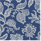 Jacobean Toss Indigo Printed Floral Fabric by Robert Allen - Order a Swatch