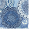 Kaliedescope China Blue Floral Indoor/Outdoor Fabric - By The Bolt
