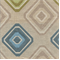 Mosaic Ocean Tan, Blue and Green Geometic Upholstery Fabric - Order a Swatch