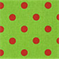 Polka Dot Charteuse/Lipstick by Premier Prints 30 Yard Bolt