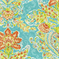 Crystal Vision Capri Floral Ikat Fabric by Dena Designs - Order a Swatch