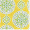 Mirage Medallion Citrus Yellow Contemporary Linen Look Fabric by Dena Designs - Order a Swatch
