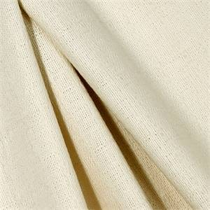 Unprinted Birch Natural Solid Cotton Basketweave Drapery Fabric by Premier Prints - By the Bolt