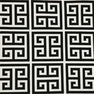 Towers Black/White by Premier Prints Designer Greek Key 30 Yard Bolt