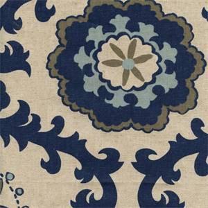 Rosa Indigo/Linen by Premier Prints Designer - Drapery Fabric 30 Yard Bolt