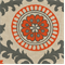 Rosa Tabby Orange/Linen by Premier Prints - Drapery Fabric 30 Yard Bolt