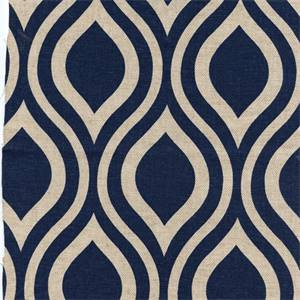 Nichole Indigo/Laken by Premier Prints - Drapery Fabric 30 Yard Bolt