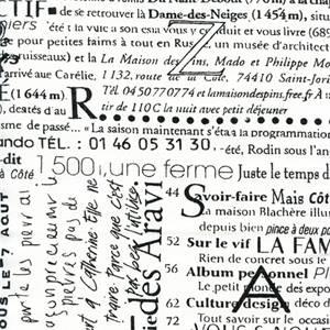 Newsletter Black by Premier Prints Designer - Drapery Fabric 30 Yard bolt