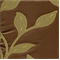 Robin Avocado Appliqued Look Floral Drapery Fabric - Order-a-swatch