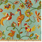 Jungle Jam Aqua Drapery Fabric by Swavelle Mill Creek - Order a Swatch