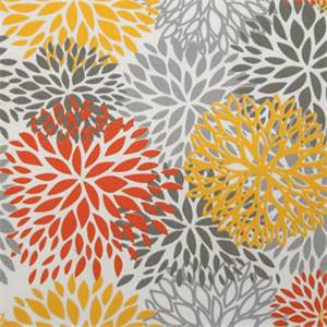 Blooms Citrus Yellow Outdoor by Premier Prints - Drapery Fabric  30 Yard bolt