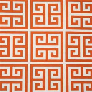 Towers Orange and White Indoor/Outdoor Fabric by Premier Prints 30 Yard bolt