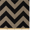 Zippy Black Denton Chevron Drapery Fabric by Premier Prints 30 Yard bolt