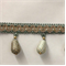 TF54/39-3 Seafoam Unique Beaded Tassel Fringe - Order a Swatch