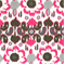 Rio Preppy Pink Floral Ikat Indoor/Outdoor Print by Premier Prints - Order a 30 Yard Bolt