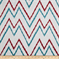 Levi #73 Red/Blue 73033-23 Flamestitch Ikat Look Chevron Stripe by Duralee - Order a Swatch
