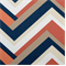 Concorde Melon Orange and Blue Geometric Cotton Drapery Fabric By Duralee - Order a Swatch