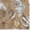 Sea Shells Mocha Indoor/Outdoor Fabric  - Order a Bolt