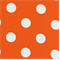 Polka Dots Orange/White Indoor/Outdoor Fabric 30 Yard bolt
