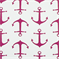 Anchors Candy Pink White Cotton Drapery Fabric By Premier Prints - Order a Swatch