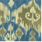 Berkly Taupe and Turquoise Ikat Drapery Fabric - Order a Swatch