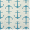 Anchors Coastal Blue/Slub Cotton Drapery Fabric By Premier Prints - Order a Swatch