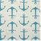 Anchors Coastal Blue/Slub Cotton Drapery Fabric By Premier Prints 30 Yard bolt