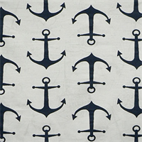 Anchors Premier Navy Slub Cotton Drapery Fabric By Premier Prints 30 Yard bolt