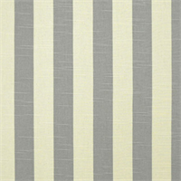 Stripe Grey/Natural Slub Cotton Drapery Fabric By Premier Prints 30 Yard bolt