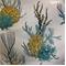 Corales 03 Green Aquatic Design Cotton Drapery Fabric - Order a Swatch