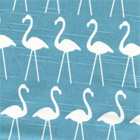 Flamingo Coastal Blue/Slub Drapery Fabric by Premier Prints 30 Yard bolt