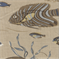 Delmar Sealife Blue/Brown Drapery Fabric  - Order a Swatch