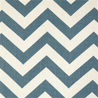 Zig Zag Denim/Natural Stripe Premier Print Drapery Fabric  30 Yard bolt
