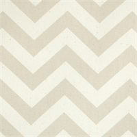 Zig Zag Khaki/Natural Stripe Premier Print Drapery Fabric 30 Yard bolt