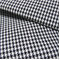 Harper Houndstooth Black/White Upholstery Fabric by Roth and Tompkins - Order-a-swatch