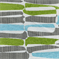 Kenya Aqua Lime Woven Machette Design Upholstery Fabric - Order-a-swatch