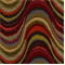 Frequency Tomato Woven Ikat Wave Design Upholstery Fabric - Order-a-swatch