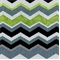 Chevron Spearmint Stripe Chenille Upholstery Fabric - Order-a-swatch