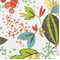 Liam Rosa Punch Floral Drapery Fabric  - Order-a-swatch