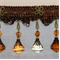 Venice Crystal 8004 Cinnamon Beaded Trim - Order-a-swatch