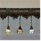 Venice Crystal 8225 Spa Blue Beaded Trim - Order-a-swatch