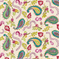 La Parisienne Ice Flower Paisley Floral Drapery Fabric  - Order a Swatch