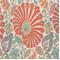 Bankura Papaya Floral Drapery Fabric - Order a Swatch
