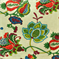 Lebeau Fruitpunch Floral Drapery Fabric - Order a Swatch