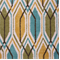 Sketch Teal Ikat Print Drapery Fabric  - Order a Swatch
