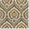 Medallion Print Grey Cotton Drapery Fabric by Famous Maker Swatch