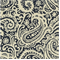 Paisley Blue Drapery Fabric by Famous Maker Swatch