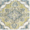 Zoie Marine Cotton Floral Drapery Fabric by Braemore  - Order-a-swatch