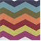 Rainbow Prism Chevron Stripe Upholstery Fabric - Order-a-swatch